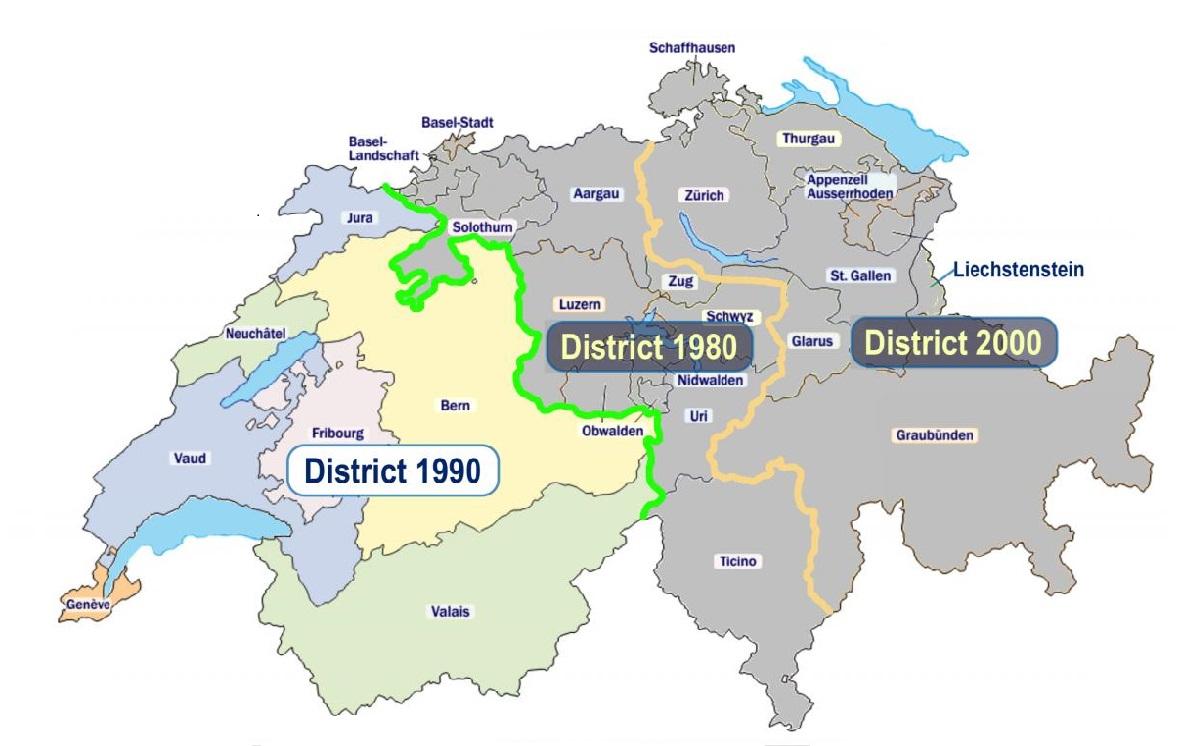 Rotary Schweiz Distrikte